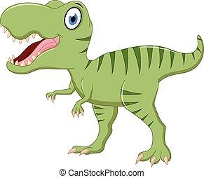 sprytny, rysunek, tyrannosaurus