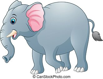 sprytny, słoń, rysunek
