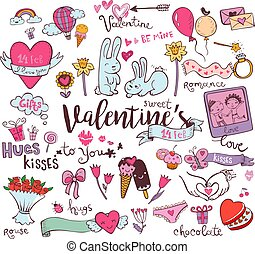 sprytny, valentine, doodles