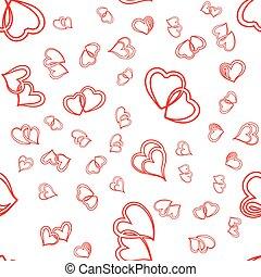 sprytny, valentine, seamless, serca, próbka