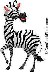 sprytny, zebra, rysunek