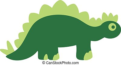 sprytny, zielony, dinozaur