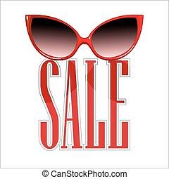 sprzedaż, sunglasses.