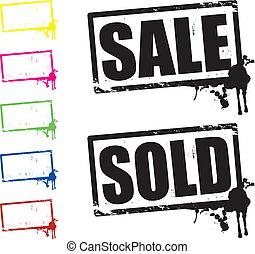 sprzedany, sprzedaż, znaki