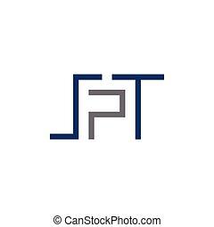 spt, początkowy, litera, logo