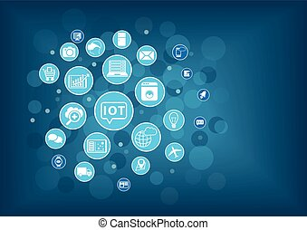spullen, concept, iot, internet