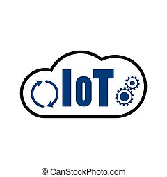 spullen, pictogram, iot, wolk, internet