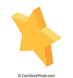spullen, ster, goud, media, favoriet, vijf-gerichte, sociaal, pictogram