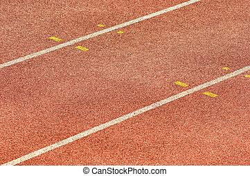 spur, athletik, rennender