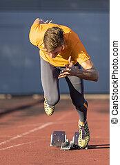 spur, feld, sprint, start