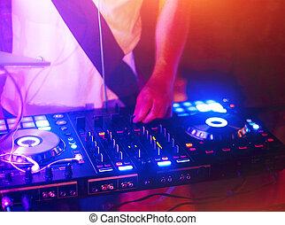 spur, mischt,  DJ, Nachtclub