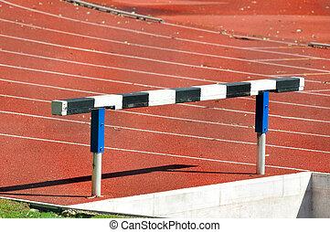 spur, rennender , hürde, athletik