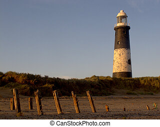 Spurn Point lighthouse, East Yorkshire, November 2011