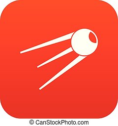 Sputnik icon digital red for any design isolated on white...