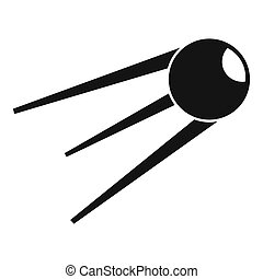 Sputnik icon, simple style