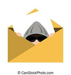 spy avatar isolated icon vector illustration design