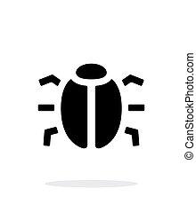 Spy bug icon on white background. Vector illustration.