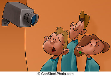 spy cam and the students