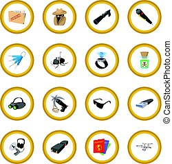 Spy cartoon icon circle