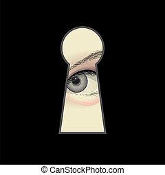 spy - eye and keyhole