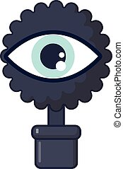 Spy eye icon, cartoon style