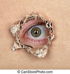 Spy eye in hole