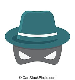 Spy flat icon, incognito and agent, vector graphics, a...