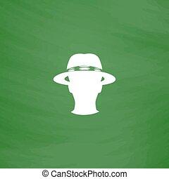 spy flat icon
