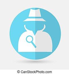 spy icon on a white background