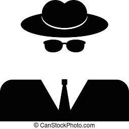 Spy icon on white background. Vector illustration.