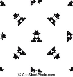 Spy pattern seamless black