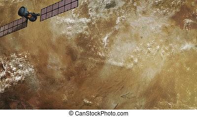 Spy satellite in orbit.