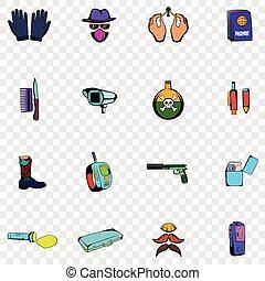 Spy set icons