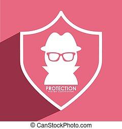 spy shield design, vector illustration eps10 graphic