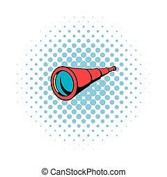 Spyglass icon in comics style