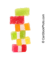 Spyral colorful jelly candies. Isolated on a white background