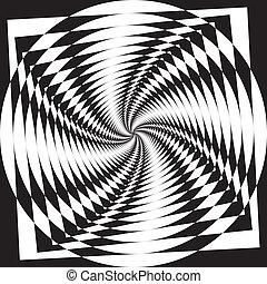 Spyral disk descending perspective background