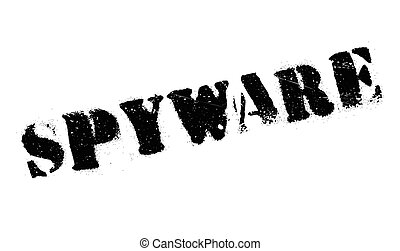 Spyware rubber stamp. Grunge design with dust scratches....