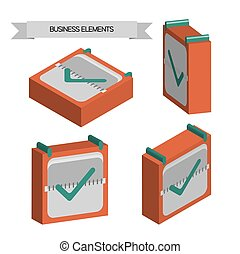 sqa, elementos, cheque, empresa / negocio,  3D