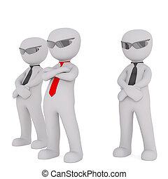 Squad of bodyguards - Security 3D men bodyguards squad...
