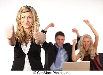 squadra affari, applauso