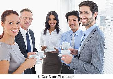 squadra affari, godere, un po', bibite