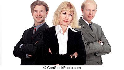 squadra affari, isolato, in, il, sfondo bianco