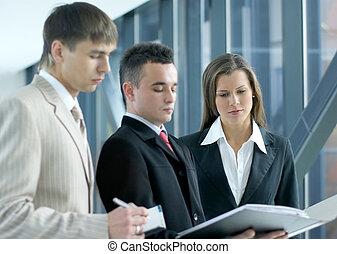 squadra affari, lavorativo
