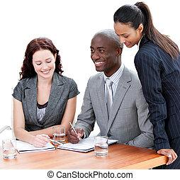 squadra affari, multi-etnico