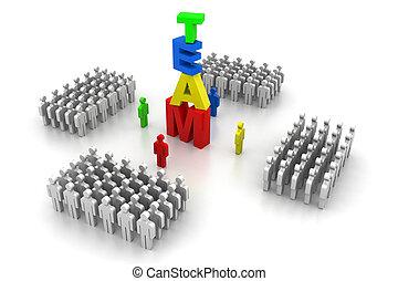squadra, concetto, affari