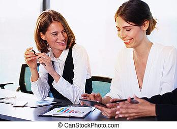 squadra, di, persona affari, lavori in corso, insieme