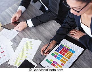 squadra, di, persona affari, lavori in corso, insieme., concetto, di, lavoro squadra