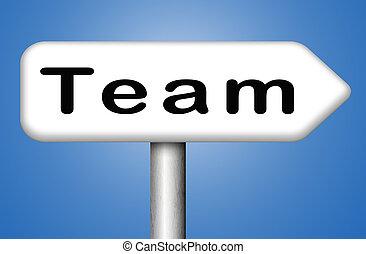 squadra, o, gruppo