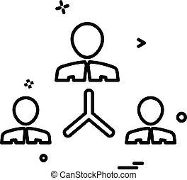 squadra, vettore, disegno, icona